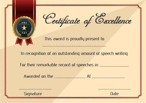 Speech Contest Winner Certificate Template: 10 Free Pdf intended for New Winner Certificate Template