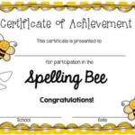 Spelling Bee Award Certificate Template (3) – Templates For Spelling Bee Award Certificate Template