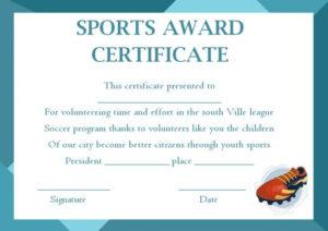Sports Award Certificate Templates – Template Sumo with Athletic Award Certificate Template