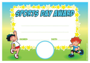 Sports Award – Personalised Certificate with Fresh Sports Day Certificate Templates