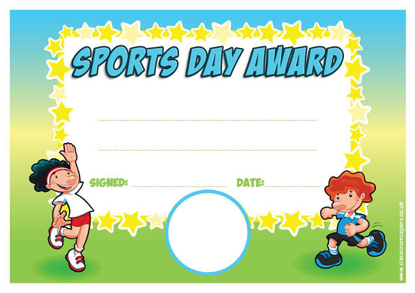 Sports Award - Personalised Certificate with Fresh Sports Day Certificate Templates