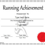 Sports Certificate – Achievement In Running For Best Running Certificate Templates
