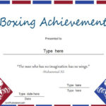 Sports Certificate – Boxing Achievement – Award Regarding Boxing Certificate Template