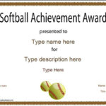 Sports Certificate – Softball Certificate With Softball Certificate Templates Free