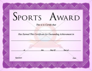 Sports Certificate Template | Certificate Templates throughout Athletic Award Certificate Template