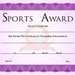 Sports Certificate Template | Certificate Templates Throughout Sports Award Certificate Template Word