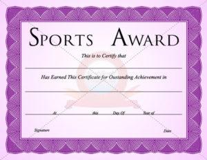 Sports Certificate Template | Certificate Templates throughout Sports Award Certificate Template Word