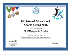 Sports Certificate Template For Ms Word | Document Hub regarding Athletic Certificate Template
