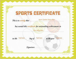 Sports Certificate Template For Ms Word Download At Http intended for Fresh Athletic Certificate Template