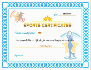 Sports Certificate Template For Ms Word Download At Http regarding Athletic Certificate Template
