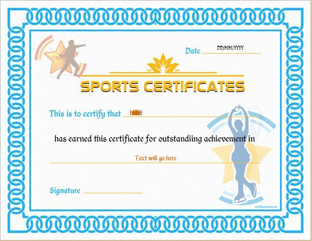Sports Certificate Template For Ms Word Download At Http with Physical Education Certificate 8 Template Designs