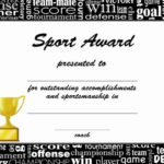 Sports Certificate Templates | Certificate Template Downloads Within Unique Sports Award Certificate Template Word