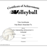 Sports Certificate Templates Pdf. Download Fill And Print With Quality Volleyball Mvp Certificate Templates