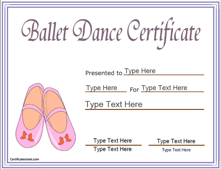 Sports Certificates - Award Template For Ballet| Ballet within New Ballet Certificate Template