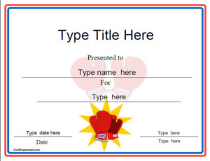 Sports Certificates – Boxing Award Template with Unique Boxing Certificate Template