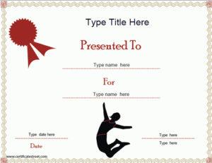 Sports Certificates – Gymnastics Certificate Template pertaining to Gymnastics Certificate Template
