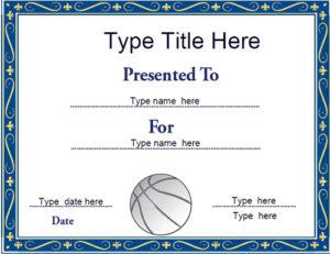 Sports Certificates – Netball Certificate Template throughout Netball Achievement Certificate Template