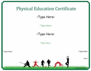 Sports Certificates – Physical Education Certificate within Best Pe Certificate Templates