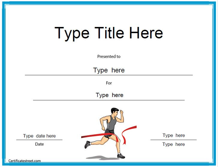 Sports Certificates - Running Award Certificate Template for New Running Certificates Templates Free