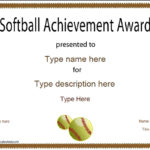 Sports Certificates – Softball Certificate Within Unique Softball Award Certificate Template