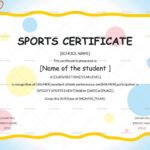 Sports Day Certificate Template – Yatay.horizonconsulting.co For Fresh Player Of The Day Certificate Template Free