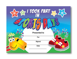 Sports Day Certificate Templates Free (1) – Templates intended for Sports Day Certificate Templates