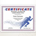 Sports Editable Certificate Template Editable Running Award In Editable Running Certificate