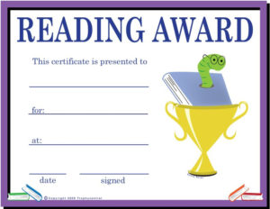 Sportsawards_2271_452557301 792×612 Pixels | Reading Awards for Unique Reading Certificate Template Free