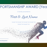Sportsmanship Award Certificate ( Blue And White Border) – Gct With Regard To Unique Sportsmanship Certificate Template