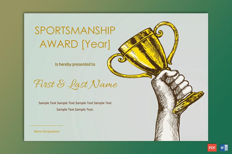 Sportsmanship Award Certificate - Soft Blue Border - Gct regarding Sportsmanship Certificate Template