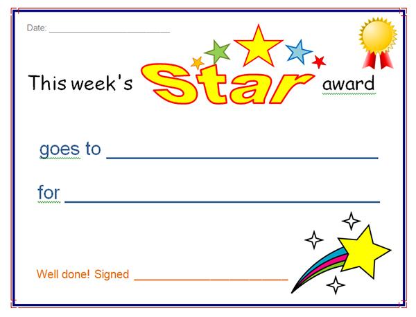 Star Award Certificate Template (2) - Templates Example with regard to Quality Star Award Certificate Template