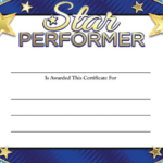 Star Award Certificate Template 5 - Best Templates Ideas For pertaining to Quality Star Performer Certificate Templates