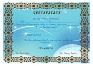 Star Naming Certificate Templates (15+ Free Official Looking intended for Star Naming Certificate Template