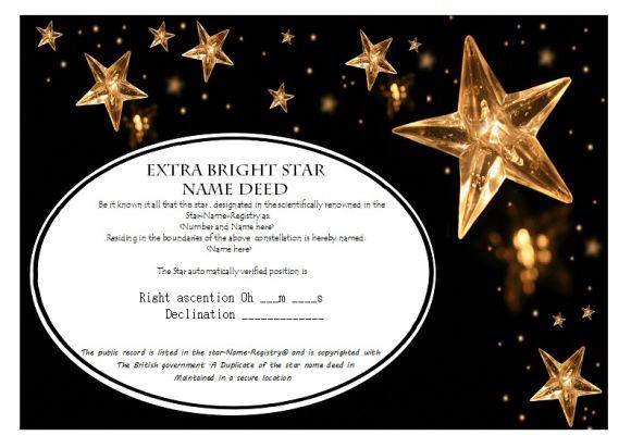 Star Naming Certificate Templates (15+ Free Official Looking pertaining to Star Certificate Templates Free