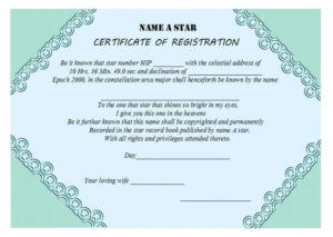 Star Naming Certificate Templates (15+ Free Official Looking pertaining to Unique Star Naming Certificate Template