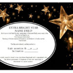 Star Naming Certificate Templates (15+ Free Official Looking regarding Star Naming Certificate Template