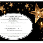 Star Naming Certificate Templates (15+ Free Official Looking With Regard To Quality Star Performer Certificate Templates