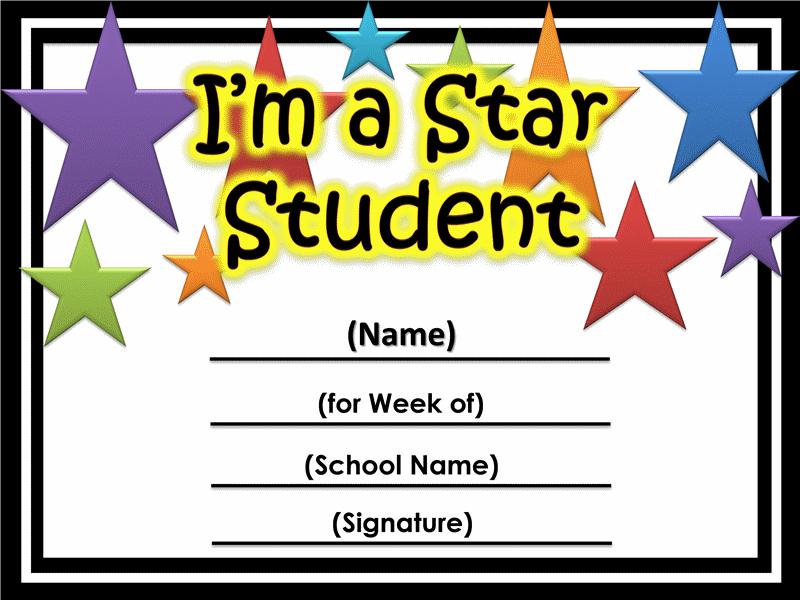 Star Of The Week Certificate Printable | Printable within New Star Of The Week Certificate Template