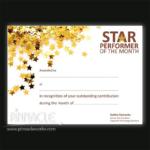 Star Performer Certificate Templates (6) – Templates Example Intended For Quality Star Performer Certificate Templates