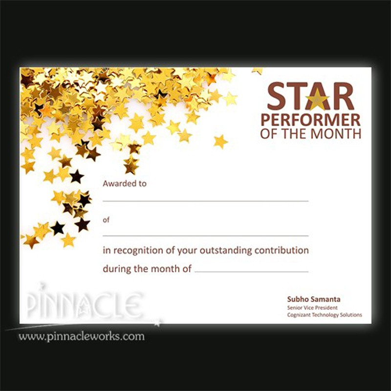 Star Performer Certificate Templates (6) - Templates Example intended for Quality Star Performer Certificate Templates