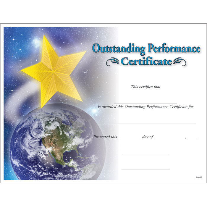 Star Performer Certificate Templates 7 - Best Templates throughout Star Performer Certificate Templates