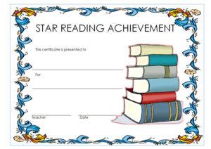Star Reader Certificate Template Free 1 | Reading Awards regarding Fresh Super Reader Certificate Template