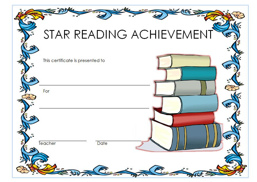 Star Reader Certificate Template Free 1 | Reading Awards With Regard To Best Star Reader Certificate Template