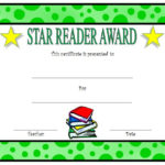 Star Reader Certificate Template Free 2 | Reading Awards With Reading Certificate Template Free