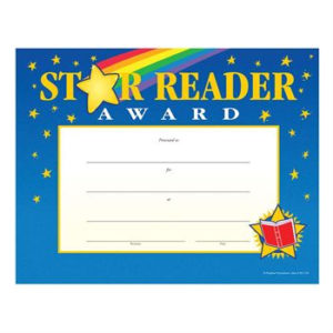 Star Reader Gold-Foil Stamped Certificates   Positive Promotions within Star Reader Certificate Templates