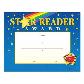 Star Reader Gold-Foil Stamped Certificates | Positive Promotions within Star Reader Certificate Templates