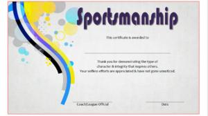 Star Sportsmanship Certificate Template Free 3 | Certificate Within Sportsmanship Certificate Template