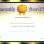 Star Sportsmanship Certificate Template Free 5 In 2020 Regarding Unique Sportsmanship Certificate Template