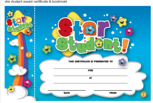 Star Student Certificate And Bookmark Freebie Download inside Unique Star Student Certificate Template