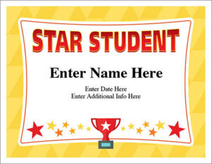 Star Student Certificate – Free Award Certificates pertaining to Fresh Free Student Certificate Templates
